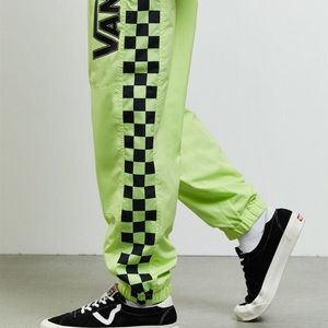 Vans BMX Off the Wall Track Pants in Neon Green